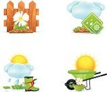 Boot,Gardening,Flower,Single Flower,Wheelbarrow,Nature,Leaf,Agriculture,Green Color,Seed,Plant,Set,Formal Garden,Sapling,Cultivated,Seedling,Ilustration,Sun,Symbol,Gardening Equipment,Isolated,Bush,Vector,Pruning,Watering,Environmental Conservation,Computer Icon