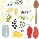 Italian Cuisine,Recipe,Basil,Food,Pasta,Meal,Parmesan Cheese,Gourmet,Olive Oil,Dining,Still Life,Rosemary,Pizza,Doodle,Cooking,Spaghetti,Ilustration,Bolognese Sauce,Vector,Spice,Macaroni,Cultures,Refreshment,Tomato,Penne,Seasoning,Condiment,Cheese,Oregano,Hand Colored,Eating,Rotelle,Freshness,Wooden Spoon,Bow Tie Pasta,Grater