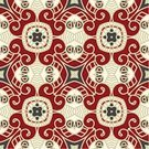 Pattern,Red,Baroque Style,Square,Decoration,Wallpaper Pattern,Seamless,Rococo Style,Backgrounds,Ilustration,Floral Pattern,Abstract,Ornate,Color Image,Beige,Vector