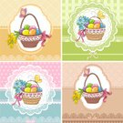 Cartoon,Celebration,Chamomile,Color Image,Cute,Vector,Beautiful,Food,Ribbon,Easter,Drawing - Art Product,Gift,Greeting Card,Beauty,Decoration,Springtime,Design,Eggs,Basket,Flower,Cultures,Yellow,Religion,Blue,Colors,Pattern,Bow