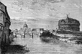 Rome - Italy,Dome,Bridge - Man Made Structure,Cupola,St. Peter,Bridge - Vessel Part,Engraved Image,Italy,Urban Scene,Vatican,Scenics,International Landmark,River,Famous Place,Cathedral,Antiquities,Sunset,Basilica,Facade,Panoramic,Dusk,Ponte Sant Angelo,Italian Culture,Old-fashioned,History,Renaissance,Travel Destinations,Christianity,Urban Skyline,Vacations,Branch,Architecture,Corinthian,Colonnade,Cultures,Tiber River,Castel Sant'Angelo,Outdoors,Night,National Landmark,Michelangelo,Travel,Obsolete,Church,Lazio,Reflection,Ancient,Spirituality,Roman,Europe,Catholicism,Monument,St. Peter's Basilica - The Vatican,Cityscape,Religion