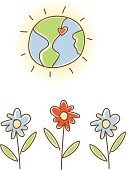 Earth,Symbols Of Peace,Heart Shape,Doodle,Love,Single Flower,Cute,Flower,Green Color,Planet - Space,Environmental Conservation,Environment,Symbol,Religious Icon,Individuality,Tranquil Scene,Pollution,Vector,Blue,Ilustration,Red,Glowing,Serene People,Style,Isolated On White,Concepts And Ideas,Sweet Food,Nature,Travel Locations,Flowers,Nature