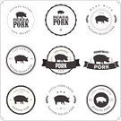Badge,Retro Revival,Old-fashioned,Label,Sign,1940-1980 Retro-Styled Imagery,Pig,Farm,Organic,Silhouette,Meat,Rubber Stamp,Pork,Vector,Piglet,Food,Symbol,Store,Animal,Circle,Consumerism,Ham,Insignia,Computer Icon,Chop,Freshness,Meal,Raw Food,Nature,Market,Ilustration,Agriculture,Candid,Business,Design,Isolated