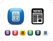 Newspaper,Interface Icons,Clip Art,Good News,Square,Icon Set,Multi Colored,White Background,Sparse,Vector,Shiny