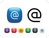 E-Mail,Symbol,Computer Icon,Multi Colored,Shiny,Icon Set,Communication,Interface Icons,Vector,White Background,Vibrant Color,Sparse,Global Communications,'at' Symbol