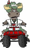 Moose,4x4,Motorcycle,Off-Road Vehicle,Lederhosen,4 wheeler,Antler,Cycling,Mammals,Cultures,knobby,Riding,Animals And Pets,Transportation,Riding,Rack,Tire,Amusement Park Ride,German Culture