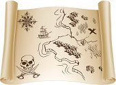 Map,Treasure Map,Pirate,Old-fashioned,Treasure Chest,Tree,Old,Retro Revival,Fantasy,Ship,Sailing Ship,Obsolete,Design Element,Vector,Antique,Scroll,History,Sword,Manuscript,Grunge,Travel,Built Structure,X Marks The Spot,Island,Navigational Equipment,Paper,Adventure,Sepia Toned,Document,Direction,Journey,Village,Exploration,Brown,Cross Shape,Rolled Up,Design,Compass,Mountain,Building Exterior,Ancient,Ilustration,Drawing - Art Product,Human Skull