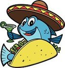 Taco,Fish Taco,Cartoon,Mexican Ethnicity,Tequila - Drink,Prepared Fish,Margarita,Alcohol,Seafood,Vector,Mascot,Characters,Fast Food,Lettuce,Ilustration,Taco Shell,Tomato,Cocktail,Mexican Cuisine,Lime,Hat,Glass,Tortilla,Sombrero