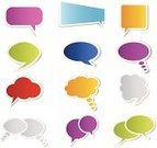 Bubble,Speech,Thought Bubble,Speech Bubble,Vector,Cartoon,Comic Book,Cloud - Sky,Collection,Set,Blank,isolated objects,Illustrations And Vector Art,Entertainment,Symbol,Empty,Circle,Rectangle,Computer Icon