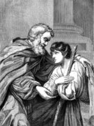 Forgiveness,Consoling,Allegory Painting,Old-fashioned,Drawing - Art Product,Image Created 1860-1869,merciful,Israel,Greeting,History,Joy,Black And White,Traditional Clothing,Son,Middle Eastern Ethnicity,Israeli Culture,Woodcut,Ilustration,Engraved Image,Antique,Line Art,Leonello Spada,Image Created 19th Century,Engraving,English Culture,New Testament,Humble - Texas,Prodigal Son,Characters,Period Costume,Father,England,Social History,Humility,The Past,Emotion,Monochrome,Old,Historical Palestine,Cultures,Embracing,mercy,Print,Middle Eastern Culture,Middle East,19th Century Style,1860-1869,Arrival,Senior Adult,Morality Tale,Illustration Technique,Palestinian Culture,Historical Clothing