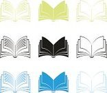 Book,Open,Symbol,Computer Icon,Magazine,Icon Set,Bible,Computer Graphic,Reading,Education,publish,Page,Abstract,Colors,Textbook,Sign,Ilustration,Isolated,Isolated On White,Vector,Encyclopaedia,Blue,Black Color,Science,Newspaper,Contrasts,Document,Text,Set,Collection,Novel,Green Color,Image,copybook
