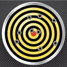 Bull's-Eye,Target,Aspirations,Bullet Hole,Target Shooting,Bullet,Hole,Gun,Carrying,Military,Crime,Yellow,Revolver - Film Title,Armed Forces,Machine Gun,Rifle,Handgun,Hiding,Sniper,Ilustration,Aiming,Semi-Automatic Pistol,Pistol,Sharp Shooting,Vector,Shooting,Police Force,Black Color,Shooting