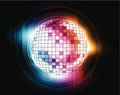 Music,Glitter,Disco Ball,Disco,Purple,Sphere,Sound,Lens Flare,Ilustration,Abstract,Shiny,Decoration,Color Image,Vibrant Color,Backdrop,Multi Colored,Blue,Horizontal,Color Gradient,White,Bright,Circle,Transparent,Backgrounds