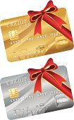 Gift Card,Gift Tag,Credit Card,Giving,Gift,Loan,Ilustration,White Background,Gold Colored,Debt,Vector,Finance,Ribbon,Clip Art,Symbol,Red,Currency,Silver Colored