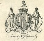 Coat Of Arms,Republic of Ireland,Engraved Image,Family Tree,Image Created 18th Century,Print,Ilustration,Latin Script,Annesly,By Love Of Virtue,Glerawly,History,Motto,Lords,Viscount Glerawly,Virtutis Amore,Kitty1,Annesley,18th Century,County Down,Peerage Title,Family