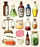 Pharmacy,Bottle,Old-fashioned,Potion,Cooking Oil,Retro Revival,Old,Medicine,Pharmacist,Cartoon,Jar,Doctor,Obsolete,Healthcare And Medicine,Herbal Medicine,Vial,Glass - Material,Herb,Computer Icon,Chemistry,Pipette,Bar Of Soap,Weight Scale,Vector,Symbol,Flask,Label,Insulated Drink Container,Alchemy,Mint Leaf - Culinary,Syringe,Leaf,Water,Hospital,Cooking Pan,Mixing,Vitamin Pill,Talcum Powder,Set,Capsule,Flower,Equipment,Receipt,Preparation,Pill,Therapy,Drop,Cork,Test Tube,Alternative Therapy,Liquid,Assistance