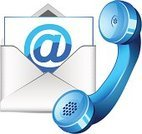 Mail,Telephone,Customer Service Representative,Business,Symbol,contact us,Blue,Telephone Receiver,E-Mail,Envelope