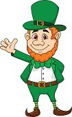 Leprechaun,St. Patrick's Day,Irish Culture,Vector,Humor,Beard,Hat,Costume,Fun,People,Waving,Fairy Tale,Cartoon,Cute,Smiling,Dwarf,Gesturing,Traditional Festival,Men,Holiday,Celebration,Ilustration,Elf,Characters,Happiness,Day,Patrick's,Human Hand,Cheerful,Green Color,Fairy