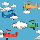 Seamless,Cloud - Sky,Pattern,Airplane,Little Boys,Flying,Cloudscape,Child,Travel,Air Vehicle,Transportation,Vacations,Sky,Travel Destinations,Design,Drawing - Art Product,Wallpaper,Toy,Wallpaper Pattern,Vector,Ilustration,Wing,Backgrounds