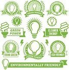 Light Bulb,Green Color,Fuel and Power Generation,Badge,Energy,Banner,Placard,Ideas,Pollution,Power Line,Earth Day,Electricity,Innovation,Alternative Energy,Group of Objects,Concepts,Nature,Environment,Digitally Generated Image,Ilustration,Floral Pattern,Vector,Insignia,Collection,Set