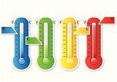 Thermometer,Single Object,Painted Image,Ilustration,Temperature,Cold And Flu,Subtraction,Sensor,Drought,Instrument of Measurement,Paramedic,Science,Shiny,Climate,Graph,Weather,Vertical,Healthcare And Medicine,Season,Sun,Degree,High Up,Green Color,Growth,Heat - Temperature,White,Red,Orange Color,Cold - Termperature