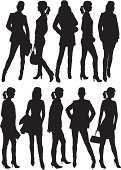 People,Clothing,Glamour,Elegance,Shopping Bag,Silhouette,Beauty,Adult,Illustration,Females,Women,Fashion Model,Vector,Fashion,Beautiful People