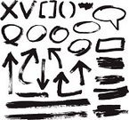 Brush Stroke,Arrow Symbol,Dirty,Grunge,Paintbrush,Sketch,Circle,Paint,Speech Bubble,Single Line,Vector,Check Mark,Picture Frame,Cross Shape,underline,Ilustration,Rough,Symbol,Graffiti,Shape,deletion,Set,Arrowhead,Design Element,Black And White,Isolated,Direction,Collection,Isolated On White,Scribble,Gesturing,Rectangle,Copy Space,No People,White Background