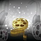 Movie,Film Reel,Gold Colored,Spool,Film,Camera Film,Backgrounds,Silver Colored,Abstract,Plan,Defocused,Square,Ilustration,Shiny,Illuminated,Beautiful,Entertainment,Negative Image,Composition,Bright,Negative,Glowing,Vector,Copy Space