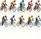 Mountain Bike,Bicycle,Mountain Biking,Cycling,Silhouette,Sports Race,Competition,Cyclist,Action,Riding,Exploration,Sports Team,Wheel,Team,Men,Teamwork,People,Motion,Green Color,White,Modern,Design,Color Image,Male,White Background,Fun,Recreational Pursuit,People Traveling,Ilustration,One Person,Outdoors,Sport,Lifestyles,Outdoor Pursuit,Art,Vector,Extreme Sports,Relaxation Exercise,Blue,New,Travel,Colors,Young Adult,Speed,Orange Color,Exercising,Black Color,Summer,Competitive Sport,Computer Graphic,Red,Healthy Lifestyle