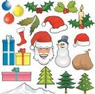 Santa Claus,Hat,Christmas,Cap,Vector,Human Head,Christmas Stocking,Snow,Snowman,Tree,Mountain,Bag,Decoration,Variation,Christmas Ornament,Isolated,Christmas Decoration,Objects/Equipment,Celebration,White Background,Set,Christmas,Leaf,Illustrations And Vector Art,Large Group of Objects,Winter,Holidays And Celebrations,Gift,Candle