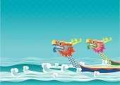 Dragon Boat Racing,Dragon,Paddling,Sports Race,River,Nautical Vessel,Competition,Religious Celebration,Wave,Design,Traditional Festival,Dragon Head,Event,Competitive Sport,Computer Graphic,chinese tradition,Duanwu Festival,Wave Pattern,Backgrounds,Blue,Pattern