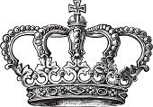 Crown,Sketch,Coat Of Arms,Medieval,Symbol,Drawing - Art Product,Isolated On White,Precious Gem,Art,Nobility,Single Object,Power,Ancient
