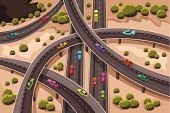 Aerial View,Multiple Lane Highway,Vector,Urban Scene,City,Traffic,Overpass,Road Intersection,Accessibility,Elevated Road,Car,Street,Mode of Transport,Transportation,People Traveling,Lane,Crossing,Land Vehicle,Direction,Drawing - Art Product,Ilustration,Modern,Highway,Cartoon,Road,Asphalt,Clip Art,Speed,Travel