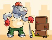 Cartoon,Box - Container,Manual Worker,Africa,Hippopotamus,Indoors,Construction Industry,Animal Hand,Large,Animal,Transportation,One Animal,Smiling,Building - Activity,Working,stockpile,Mover,Pallet,Stacking,Distribution Warehouse,Cheesy Grin,Pets,Driver,Occupation,Animals In The Wild,Wildlife,Business,Loading,Fun,Industry,Mammal,Freight Transportation,Vector,Machinery,Merchandise,Land Vehicle,Male Animal,Warehouse,Trucking,Equipment,Heavy
