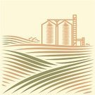Farm,Grain Elevator,Field,Corn,Crop,Silo,Storage Compartment,Plantation,Cereal Plant,Granary,Material,Vector,Valley,Industry,Food,Wheat,Land,Agriculture,Built Structure,Building Exterior,Autumn,Landscape,Steel,Hill,Biofuel,Abundance,Rural Scene,Meadow,Springtime,Seed,Excess,Grass,Elevator,Environment,Plain,Overflowing,Village,Food And Drink,Summer,Nature,Harvesting,Alternative Energy,Non-Urban Scene,Tree