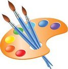 Palette,Vector,Colors,Art,Red,Creativity,Skill,Isolated,Eps10,Expertise,Blue,Green Color,Painting,Vibrant Color,Design,Artist,Watercolor Paints,Working,Paintbrush,Authority