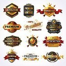 Badge,Gold Colored,Banner,premium,Star Shape,Medal,Label,Retro Revival,Luxury,Old-fashioned,Ornate,Security,Ribbon,warranty,Laurel Wreath,Retail,Business,Scroll Shape,Award,Crown,Dedication,Intricacy,Vector,Elegance,Text,Isolated,Metal,Set,Consumerism,Majestic,Satisfaction Guaranteed,Design Element,Design,Set Of,Brightly Lit,Genuine Product,Collection,Large Group of Objects,Typescript,Premium Quality,Shiny,Vibrant Color,Silver Colored,Nobility,Red,Sale