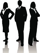 Silhouette,Back Lit,Businesswoman,Business Person,Three People,People,Business,Professional Occupation,Businessman,Men,Team,Teamwork,Women,Confidence,Cooperation,Outline,Working,Ilustration,Partnership,Reflection,Success,Togetherness,Occupation,Suit,Vector,Business Relationship,Meeting,Arms Crossed,Adult,Connection,Group Of People