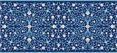 Islam,Frame,Iran,Seamless,Cultures,Decor,Ornate,Floral Pattern,Ilustration,Multi Colored