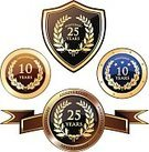 Anniversary,Number 10,Year,Badge,Seal - Stamp,10-11 Years,25-29 Years,Number 25,Gold Colored,Gold,Celebration,20-24 Years,Jubilee,Label,Coat Of Arms,Blue,Insignia,Laurel Wreath,Wreath,Medal,Achievement,Shield,Olive Tree,Award Ribbon,Placard,Ribbon,Banner,Congratulating,Medallion,Text,Star Shape,Set,Message,Bay Tree,25th Anniversary,Leaf,10th Anniversary,Diadem,Computer Icon,Circle,Laurel,Trophy,Garland,Symbol,Golden Wedding