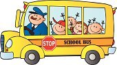 School Bus,Bus,Child,Education,Cartoon,Stop Sign,Computer Graphic,Occupation,Isolated On White,Image,Smiling,Paintings,Color Image,Smiley Face,Happiness,Illustrations And Vector Art,Land Vehicle,Ilustration,Design,Cheerful,Transportation,Multi Colored,Toothy Smile,Painted Image,Male,Mascot,Vector Cartoons,Job - Religious Figure,Men,Vector,Driver,Humor,Joy,Characters,Clip Art