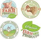 Sign,Organic,Vegetable,Watermill,Pig,Chicken - Bird,Field,Label,Farm,Food,Leaf,Whole Wheat,Harvesting,Text