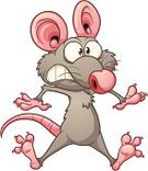 Rat,Fear,Cartoon,Mouse,Gray,Isolated,Surprise,Color Gradient,Vector,Characters,Ilustration,Jumping