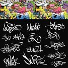Alphabet,Graffiti,Signing,Set,Label,Text,Signature,Hip Hop,Painted Image,City Life,Collection