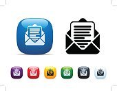Writing,Letter,Document,Interface Icons,Icon Set,Stock Certificate,Symbol,Shiny,Vector,Envelope,Correspondence,Communication,Open