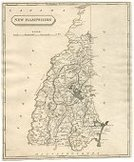 Map,New Hampshire,Engraved Image,USA,Vertical,Isolated,Copper Engraving,Old-fashioned,The Americas,Print,Image Created 1810-1819,Antique,Ilustration,Image Created 19th Century,Color Image