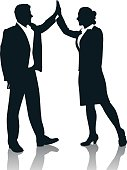 High-Five,Business,Silhouette,Back Lit,People,Vector,Business Person,Celebration,Meeting,Occupation,Connection,Outline,Team,Togetherness,Suit,Teamwork,Cooperation,Victory,Ilustration,Businesswoman,Reflection,Men,Business Relationship,Partnership,Working,Women,Professional Occupation,Businessman