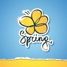 Springtime,Typescript,Light - Natural Phenomenon,Sign,Single Word,Design Element,Flower,Torn,Symbol,hand write,Pen,Striped,Yellow,Text,Label,Simplicity,Design,Blue,White,Cardboard,Insignia,Composition,Pattern,Ink,Drawing - Art Product,Doodle,Paper,Vector,Alphabet,Handwriting,Scribble,Ilustration,Textured,Note