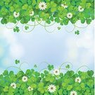 Backgrounds,Clover,Republic of Ireland,Defocused,Cultures,Sky,Greeting Card,Ilustration,Green Color