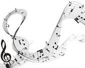 In A Row,Musical Note,Musical Staff,Music,Illustration,No People,Vector